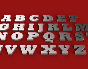 ROCKWELL EXTRA BOLD font uppercase and lowercase 3D