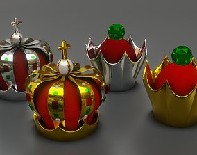 3D Crown of the King and Queen