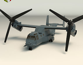 3D model Low Poly Military Aircraft 01