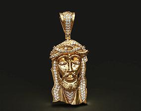 jewel Jesus head pendant 3D print model