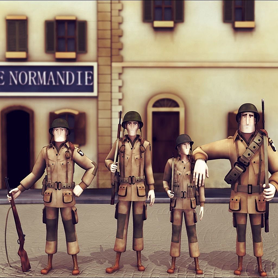 Band Of Brothers WW2 Stylised Characters
