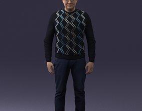 Man in sweater 0219 3D Print Ready