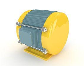 steel Electric motor 3D model