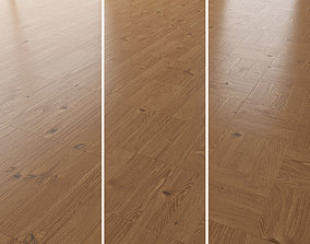 Parquet Oak Nut WWL set 3 3D model