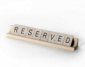 Scrabble Letter Tiles Reserved 3D