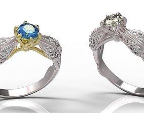 Ring sapphire 3D print model