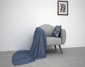 Sofa with a cloth 3D