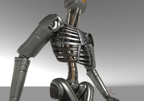 Robot  Body Version 2 Rigged and Animated