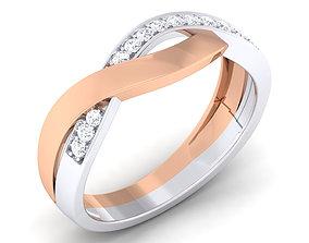 band Couple Band Ring 3dm render detail