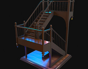 3D model Stairs spiral