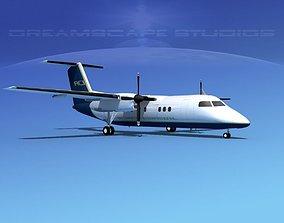 3D model Dehaviland DHC-8 100 Air Charter Intl