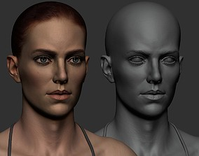 3D asset Female Anatomy Study - Z brush file - Update