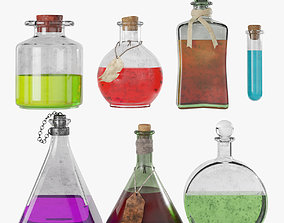 Magic potions collection 3D model