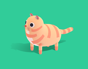Meelo The Cat - Quirky Series 3D asset