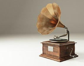 old 3D Gramophone