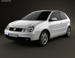 3D model Volkswagen Polo Mk4 3-door 2001