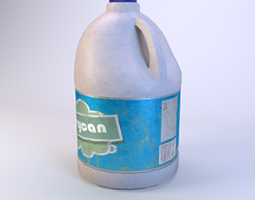 Jerrycan white 3D model realtime