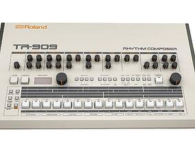 3D model Roland TR 909 Rhythm Composer