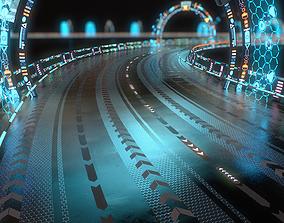 3D asset Sci-fi Road