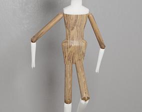 Dutch Wooden Doll 3D asset
