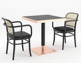 N 811 Chair and 2 Tables by THONET VIENNA 3D