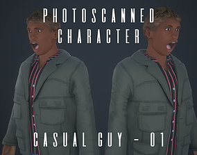 Photoscanned Character - Casual Guy 01 3D asset