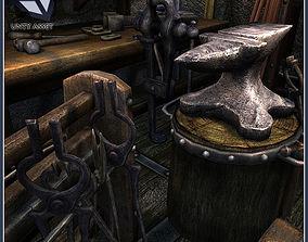 3D asset Medieval Blacksmith Tools