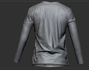T Shirt Long sleeves 3D asset