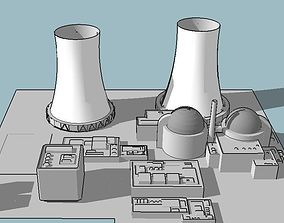 Nuclear power plant 3D model factory