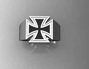 Signet RING Cross 3D printable model