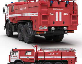 3D model Russian Fire engine 7-40