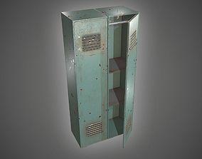 Metal Locker 3D asset