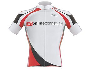Cyclist bib t shirt 3D