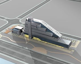 Office Building tile office-building 3D