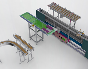 Conveyor assembly 3D model