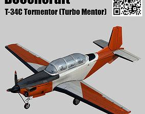 3D asset rigged Beechcraft T-34C Turbo Mentor