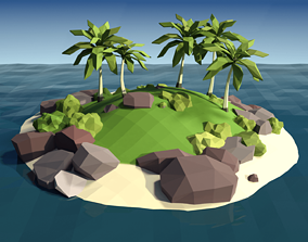 3D asset Tropical Island