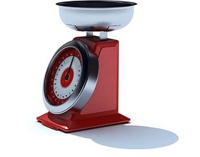 3D model Red Food Scale