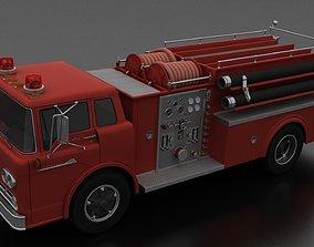 3D asset C-800 FireTruck Unmarked 1958