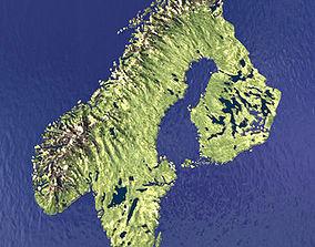 3D Sweden Norway Finland