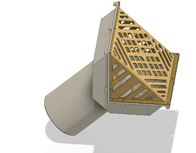 Rainwater roof Parapet Drain w Grade L 3D print model 3