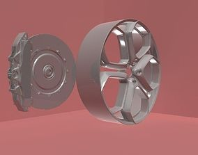 car wheel and brakes 3D model