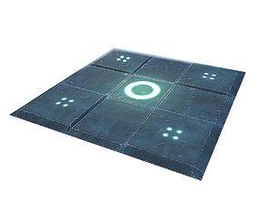 Sci-Fi Floor - Low Poly 3D model