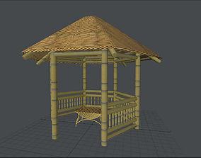 Bamboo Gazebo 3D asset
