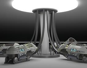 Sci Fi Cryogenic Pod - Cryopod - 3D model
