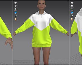 3D Marvelous Designer Garment - Light Green Sweater