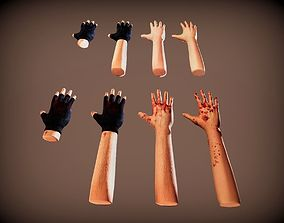 First Person Hands and Arms with Gloves 3D asset