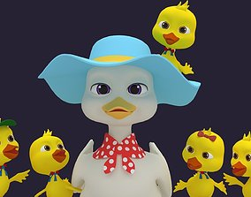 3D model Asset - Cartoons - Character - Duck - Hight Poly