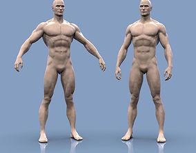 3D printable model Base mesh male body