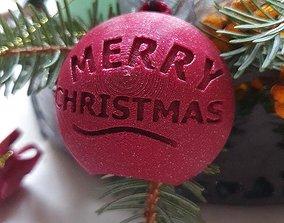 3D Printing Merry Chrismas Ball